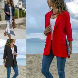 Women Elegant Fashion Slim Casual Business Blazer Suit Jacke