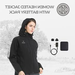 ORORO Women Heated Jacket With Battery Winter Outdoor Powere