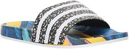 adidas Originals Women's Adilette Slide Sandal, White/Black,