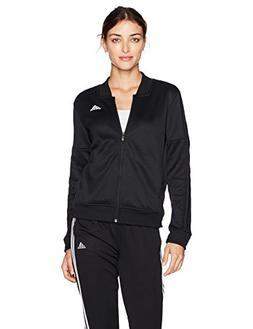 adidas Women's Athletics Tricot Snap Track Jacket, Black/Bla