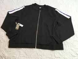 Women's Old Navy Black Bomber Woven Light Weight Jacket Size