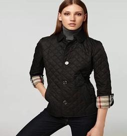 Burberry brit women's black copford diamond quilted jacket s