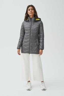 NOIZE Women's Claire Lightweight Quilted Nylon Vegan Puffer