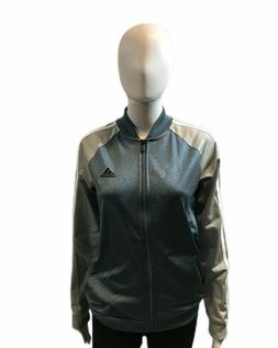 adidas Women's Embossed Floral Print Full Zip Jacket Stylish