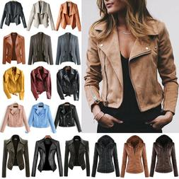 women s faux zip up bomber biker