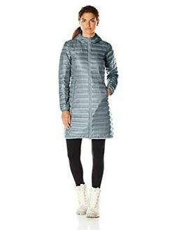 Columbia Women's Flash Forward Long Down Jacket, Grey, Grey
