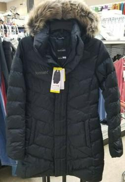 MARMOT WOMEN'S LONG DOWN PARKA JACKET size Small color Black