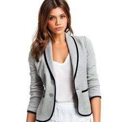 Women's OL Blazer Jacket Coat Tops Business Formal Office Wo