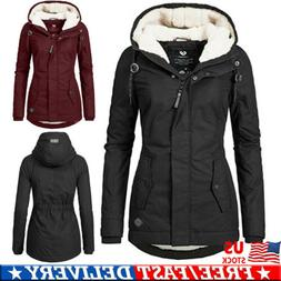 Women's Parka Hooded Hoodies Parka Winter Thicken Jacket War