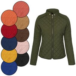 KOGMO Women's Quilted Fully Lined Lightweight Zip Up Jacket