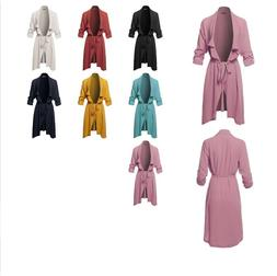 FashionOutfit Women's Spring Lightweight Roll-up 3/4 Sleeve