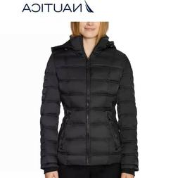 women s stretch water resistant puffer jacket