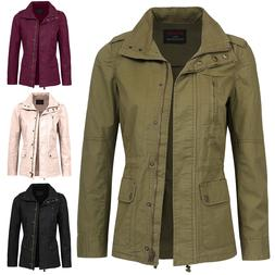 NE PEOPLE Women's Versatile Military Anorak Jacket  NEWJ128