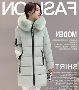 Women's Winter Fur Collar Hooded Down Thicken Cotton Jacket