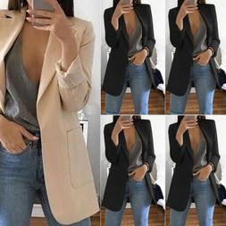 women slim casual blazer jacket top outwear