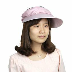 Women Summer Floral Decor Foldable Wide Brim Beach Travellin