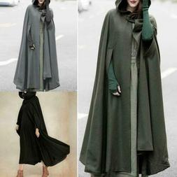 Women Trench Coat Open Front Cardigan Jacket Coat Cape Cloak