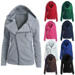 women zipper up jumper pullover coat jacket