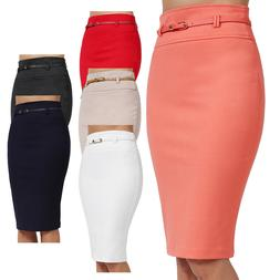 NE PEOPLE Womens Basic Knee Length Work Office Pencil Skirts