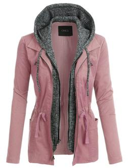 LE3NO Womens Lightweight Military Anorak Jacket with Fleece