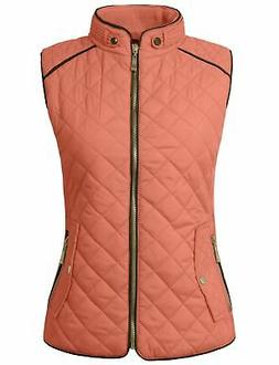 NE PEOPLE Womens Lightweight Quilted Zip Jacket/Vest Newv40-