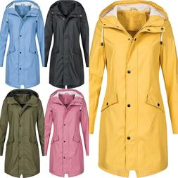 Long Sleeve Hooded Wind Jacket Ladies Outdoor Waterproof Zip