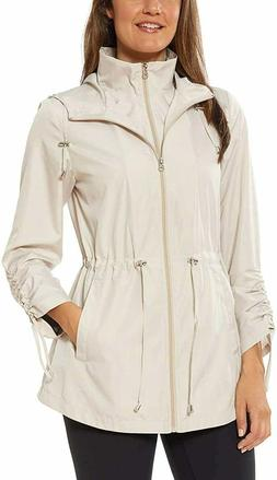 Jones New York Women's Parka in a Pocket Rain Jacket