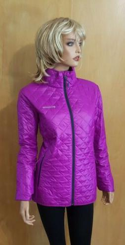 WOMENS PINK COLUMBIA QUILTED PACKABLE OMNI HEAT JACKET~ Larg