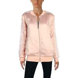 adidas Originals Womens Pink Winter Warm Bomber Jacket Outer