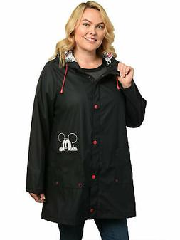 womens plus size mickey mouse rain coat